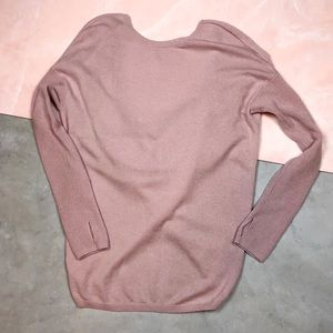 Athleta Wool Cashmere Open Back Crossover Sweater